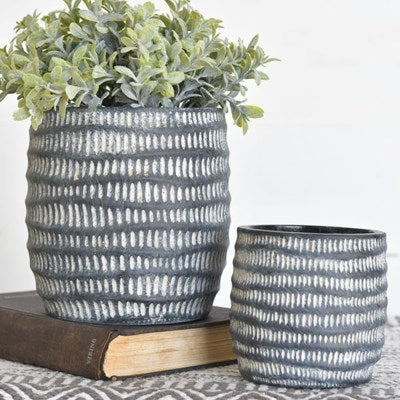Set of 2 Charcoal Planters