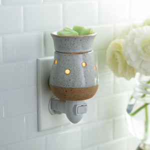 Stone White Rustic Pluggable Warmer