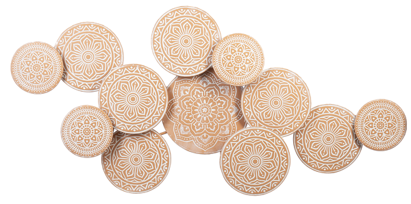 Embossed Terracotta Finish Layered Medallion Wall Decor