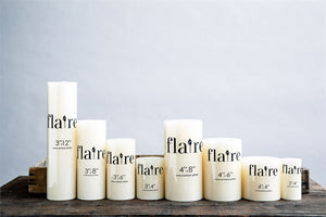 Flaire Unscented Pillar & Taper Candles