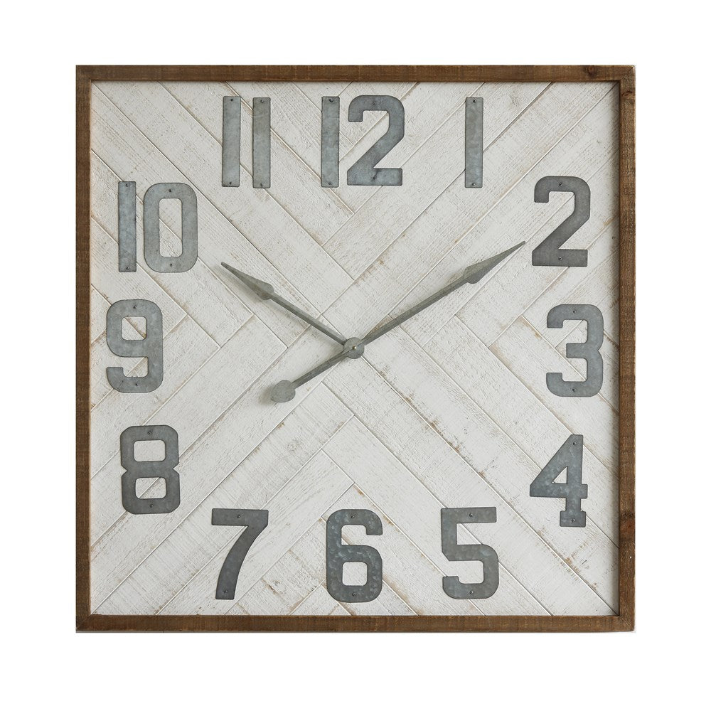 "36"" Square and Metal Wall Clock"