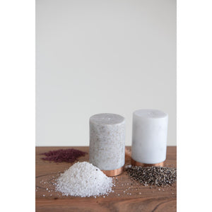 Marble Salt & Pepper Shaker Set