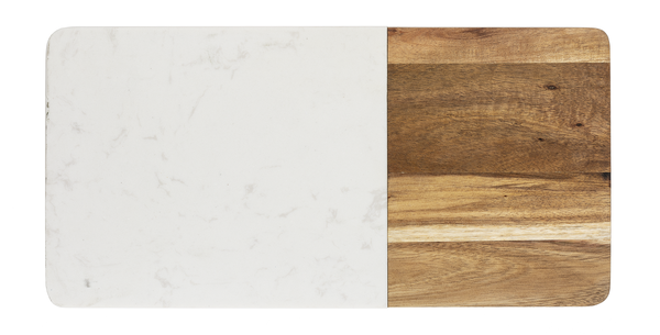 Cheeseboard - Acacia and White Marble