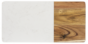 Cheeseboard - Acacia and White Marble Large