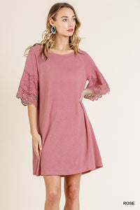 Rose Bell Sleeve Dress