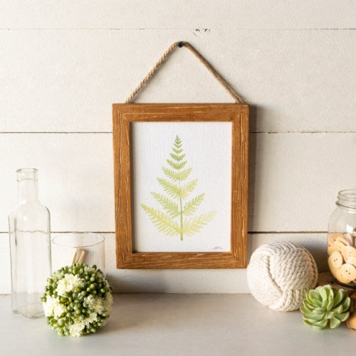 Wooden Framed Fern Print No. 1