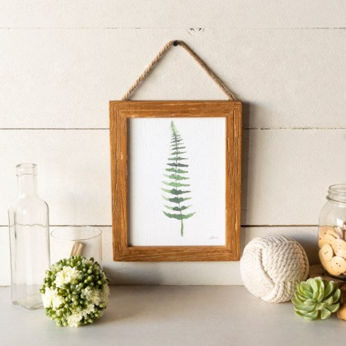 Wooden Framed Fern Print No. 2