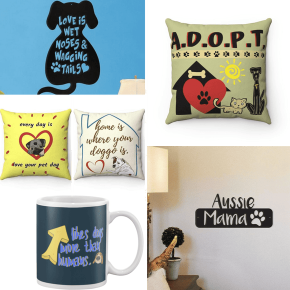 adopt pillow wall art pet beds for your home
