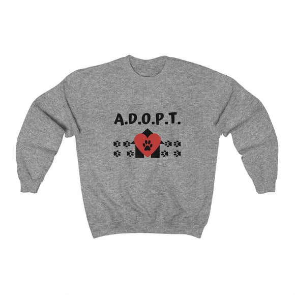 A.D.O.P.T. sweatshirt - pet fetchers shop