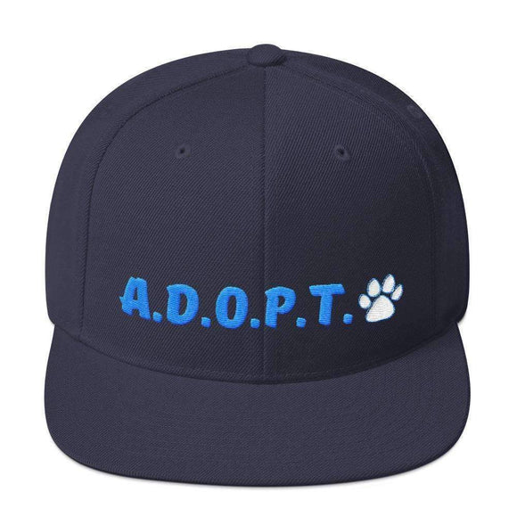 A.D.O.P.T. paw snapback hat - pet fetchers shop