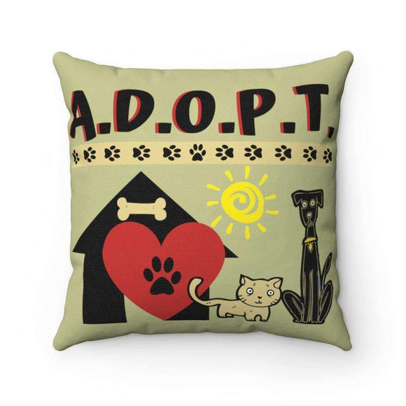 A.D.O.P.T. pillow - pet fetchers shop