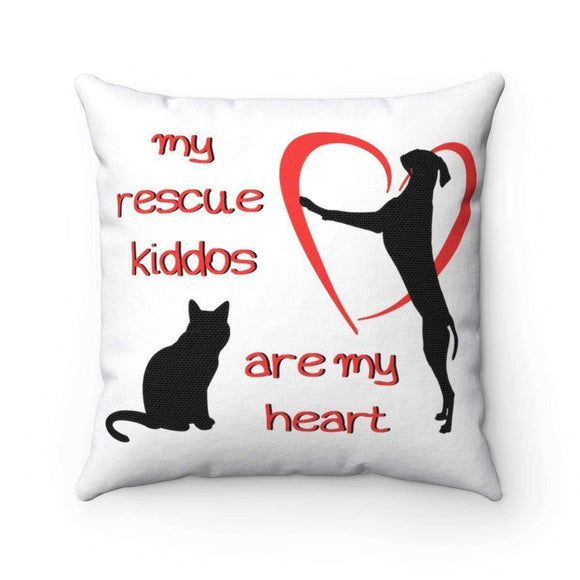 my rescue kiddos are my heart pillow - pet fetchers shop