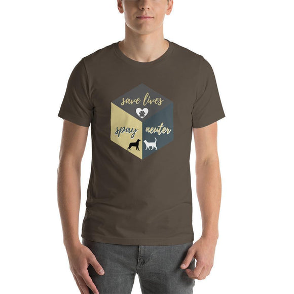 spay neuter pets | save lives t-shirt - pet fetchers shop