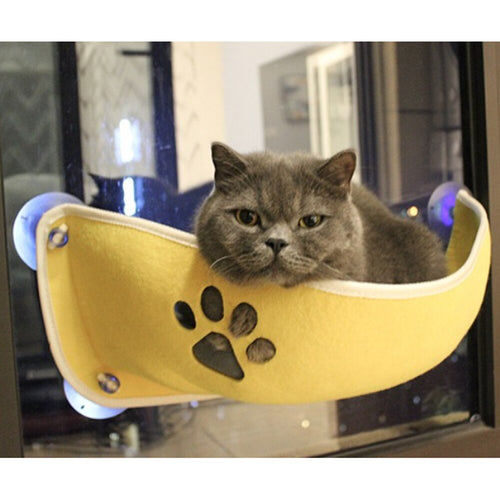 Cat Hammock Soft And Comfortable Pet Window Bed - HeirOasis Emporium