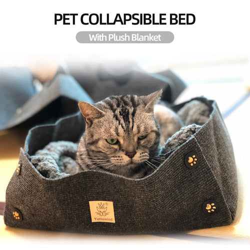 Comfortable Durable Cat Bed Nest Collapsible Pet - HeirOasis Emporium