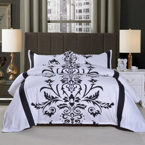 3 Pcs Floral Print Bedding Set Pillowcase - HeirOasis Emporium