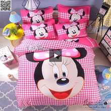 Load image into Gallery viewer, Disney Mickey Minnie Mouse Bedding Set Twin Full Queen King Single Double Super King Size Duvet Cover Pillow Cases 3pcs New - HeirOasis Emporium