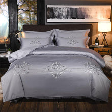 Load image into Gallery viewer, Luxury 100% Egypt Cotton Embroidered Bedding Sets - HeirOasis Emporium