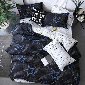 4pcs Duvet And Pillowcase Bedding Set 2TJ-61018 - HeirOasis Emporium