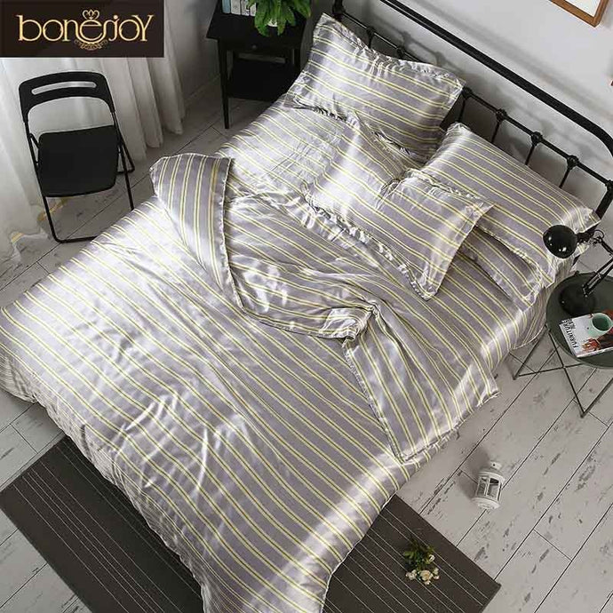 Bonenjoy Assorted Color Satin Silk Bed Sets - HeirOasis Emporium