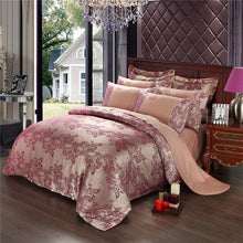 Load image into Gallery viewer, Luxury Jacquard Golden Designer Bedding Sets - HeirOasis Emporium