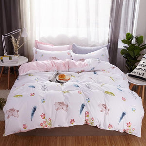 Pink Flamingo Bedding Set - HeirOasis Emporium