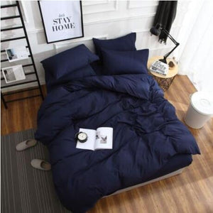 High Quality Four Piece Set Pure ColorStory Full Cotton ( sheets + Duvet Cover + 2PC Pillow Case ) C003 - HeirOasis Emporium