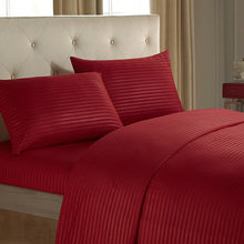 Load image into Gallery viewer, Luxury Red Stripped Bedding Set 3/4 Pcs - HeirOasis Emporium