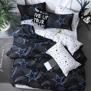 Gray Triangles Simple Style Bedding - HeirOasis Emporium