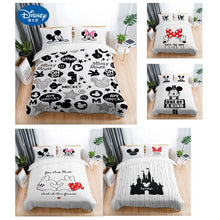 Load image into Gallery viewer, 3Pcs Black & White Mickey Mouse Bedding Sheets - HeirOasis Emporium
