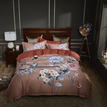 Load image into Gallery viewer, 100% Egyptian Cotton Bedding 4Pcs Shaby Duvet Cover, Bed Sheets & Pillow Shams - HeirOasis Emporium