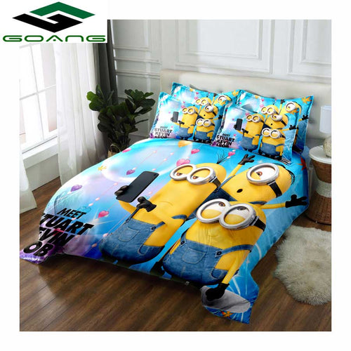 3pc Minion Bedding Set - HeirOasis Emporium