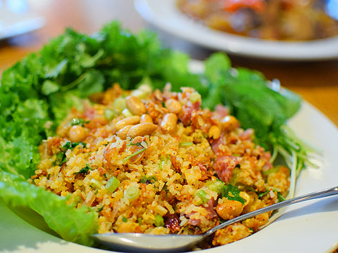 Nam Khao Thai Salad Crispy Rice