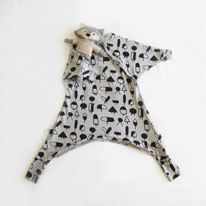 COZY TODDLER SUIT - Geo Jumble (All Year Round | Organic Cotton)