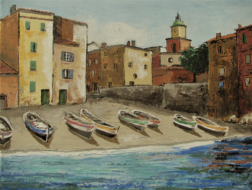 Saint-Tropez Fishing Boats on the Beach