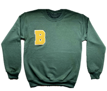 "Load image into Gallery viewer, Baker ""B"" Crewneck - Army Green"