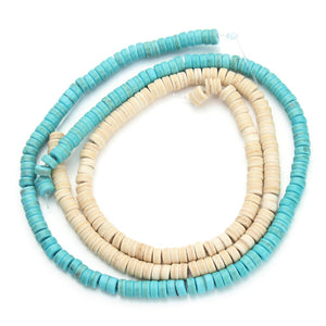 130pcs/pack 0.6cm*0.3cm Geometrical Column Blue Created Natural Beads Loose Stones Beading Necklace Bracelet DIY Finds F1190