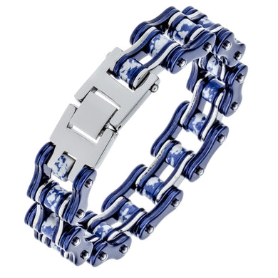 Mens stainless steel link chain bracelet biker heavy jewelry birthday gifts for dad him boyfriend D044 dropship wholesale 9