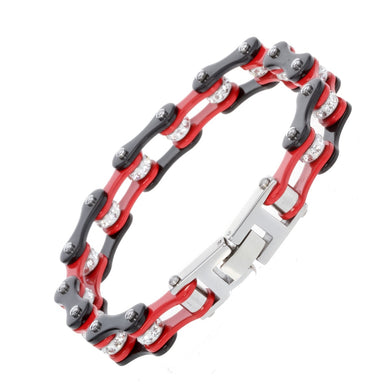Women stainless steel link chain bracelet biker heavy jewelry birthday gifts for mom her wife girlfriend daughters D022 8.5