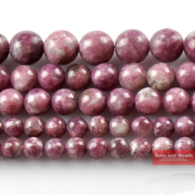 Natural Stone Beads Lepidolite Round Loose Beads For Jewelry Making 4/6/8/10mm 15.5inches DIY Bracelet PB21