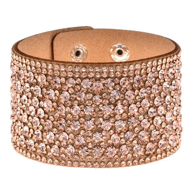 Handmade Leather And Rhinestone Bracelets