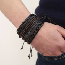 Load image into Gallery viewer, Retro Style Leather Handmade Bracelet
