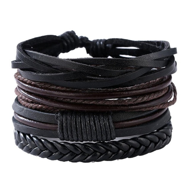 Retro Style Leather Handmade Bracelet