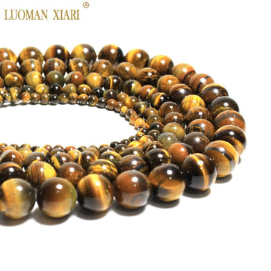 Wholesale Natural Tiger Eye Round Loose  Stone Beads For Jewelry Making Diy Bracelet Necklace 4/6/8/10/12 mm Strand 15''