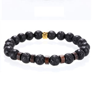 Mcllroy Stone bracelet/beads/lava/natural/homme/fashion/bangles Bracelet Men Wooden bead Accessorie Jewelry male Valentine Gift