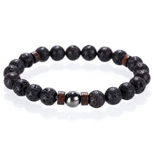 Load image into Gallery viewer, Mcllroy Stone bracelet/beads/lava/natural/homme/fashion/bangles Bracelet Men Wooden bead Accessorie Jewelry male Valentine Gift