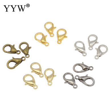 YYW Designer 100pcs Gold-Color Bronze Lobster Clasp DIY Findings Clasp Making for Bracelet Necklace Accessories Jewelry Clasps