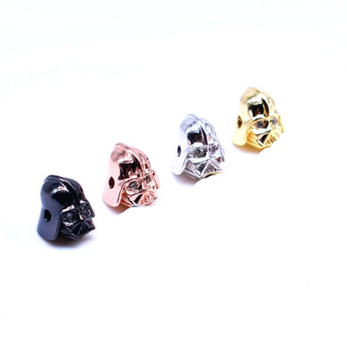 Wholesale 5 Pcs/ Lot Bead Charm Bracelet Accessories Star Wars Darth Vader CZ Beads for Jewelry Making DIY