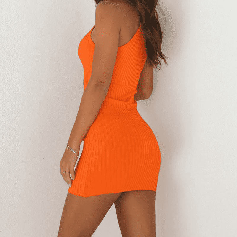 Orange Crush Dress - LUX NOIRE