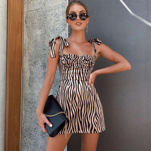 Zebra Mini Dress - LUX NOIRE